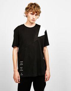 Camiseta cortes y rejilla - Camisetas - Bershka España