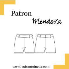 Découvrez le Short Mendoza par Louis Antoinette Paris ! Patron et tutoriel inclus. Mode Femme à faire soi-même facilement.