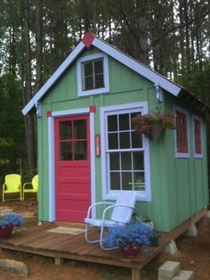 Outdoor shed made from recycled materials