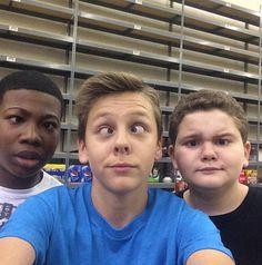 "Photos: ""Kirby Buckets"" Cast Having Fun On Set April 2015 - Kirby Buckets, Jacob Bertrand, April 7, Disney Stars, Celebs, Celebrities, On Set, Behind The Scenes, Have Fun"