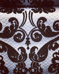 Matelasse #flock #black #fabric by #pierlorenzobassettitessuti via del Gesù 60 #roma #madeintaly #fashionblogger #fashion #dress