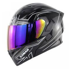 Soman955 Motorcross Helmet Double Lens Racing Cross-country Autobike Full Helmet