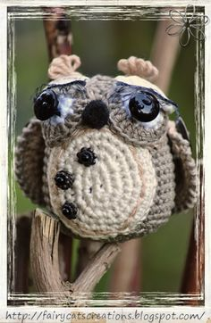 Owl by FairyCat's Creations - pattern by Vendula Maderska
