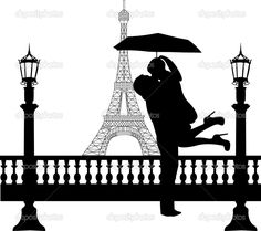 Full details of ShutterStock Couple in love with umbrella in front of Eiffel tower in Paris silhouette one in the 132858812 for digital design and education. Description from phohyper.com. I searched for this on bing.com/images