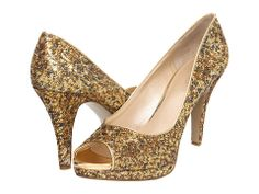 Nine West Danee Gold/Gold Fabric - Zappos.com Free Shipping BOTH Ways