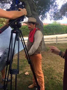 [October 14, 2015] Misha Collins on set of Supernatural as a Cowboy LOL ^_^ via Luxx Makeup's photo on FB
