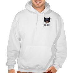 Black Bear Faces Wildlife-Supporter Hoodie