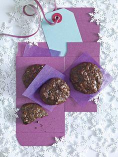 Flourless Chocolate-Walnut Cookies Recipe at Epicurious.com