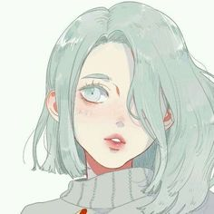 anime, anime girl, color, cute, illustration, sad, tumblr
