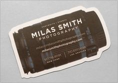 Milas Smith Photography business card