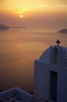 Sunset Chapel, Santorini Greece