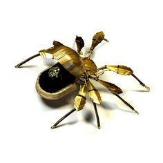 Steampunk Art Deco Spider Ring Box Sculpture by CatherinetteRings