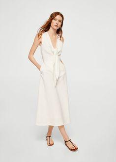 Φόρεμα με κόμπο | MANGO ΜΑΝΓΚΟ