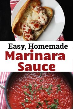 Skip the bottled pasta sauce. You can make your own marinara sauce, simple enough for everyday, yet tasty enough for all your favorite dishes. Homemade Marinara, Homemade Sauce, Pasta Sauce At Home, Sauce Recipes, Crockpot Recipes, How To Cook Chili, Make Your Own Pasta, Marinara Sauce, Good And Cheap