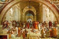 School of Athens by Raphel: One of the fathers of the Renaissance creates this very cool where's waldo type painting. See if you can find the brilliant Greek philosophers from Plato to Socrates.