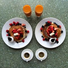 Instagram media symmetrybreakfast - Tuesday: Our last night in Santa Monica at the super chic Casa del Mar Hotel @hotelcasadelmar @leadinghotelsoftheworld  Ricotta pancakes, fresh fruit, real maple syrup, mango juice and a single shot espresso all overlooking the beach in Santa Monica, delicious and beautiful  #symmetrybreakfast #lhwtraveler