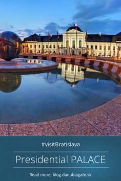 Presidential PALACE  Lovely rococo building from 18th century serves today as the seat of the Slovak president. Large French garden with avant-garde sculptures behind the palace is open for public. #Slovakia #VisitBratislava #Europe #citybreak #Bratislava