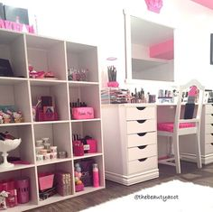 makeup vanity with lots of storage. This Would Be A Perfect Vanity Setup For Me  Tons Of Organization My Tons Other Stuff Bright And Feminine Lots Polish Insomniac Ikea Expedit Kallax Vanities