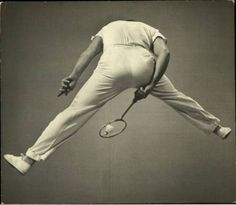 Badminton player, photographed by Gjon Mili for Life Magazine in 1939