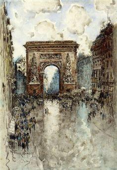 La Porte St. Denis, Paris | Frank Myers Boggs #American, 1855-1926