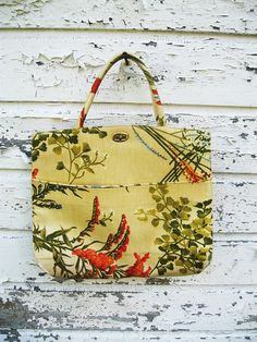1960s Retro Floral Fabric Margaret Smith Purse by simplymeaningful, $50.00