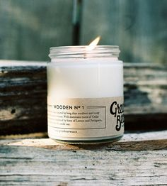 Wooden No. 1 Scented Soy Candle | Inspired by long days and cozy nights spent in the great outdo... | Candles