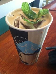 Philz Coffee -  tried this mint mojito iced coffee today and was good but strong!