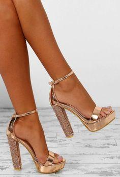 Can You Keep Up Rose Gold Patent Diamante Platform Heels - UK 3 - - high heels white high heels legs high heels steve madden high heels red high heels black high heels walks Pretty Shoes, Cute Shoes, Pumps Heels, Stiletto Heels, Heeled Sandals, Sandals Outfit, Frauen In High Heels, Platform High Heels, Rose Gold Platform Heels