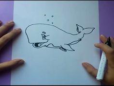 Como dibujar una ballena paso a paso 2 | How to draw a whale 2
