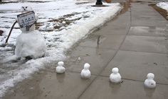 Snowman crossing