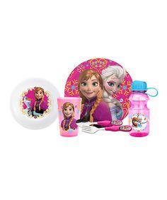 Another great find on #zulily! Anna & Elsa Six-Piece Dinnerware Set #zulilyfinds