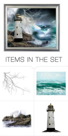 """""""The Lighthouse"""" by rboowybe ❤ liked on Polyvore featuring art and contestentry"""