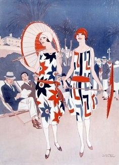 Red, white, and blue 1920's