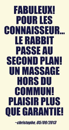 """Fabuleux! Pour les connaisseurs le rabbit passe au second plan! Un massage hors du commun! Plaisir plus que garantie!""- christophe, 05/09/2013, french owner of #EuropeMagicWand wand massager. #5outof5 stars for @EuropeMagicWand. Get more info at www.europemagicwand.fr"