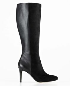 Josie Suede and Leather High Heel Boots