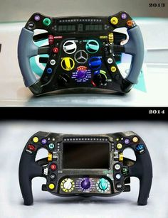 Difference in the Mercedes AMG steering wheel.