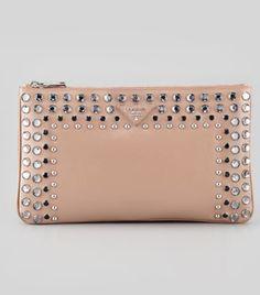 プラダ Saffiano Vernice Clutch Bag
