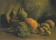 Vincent van Gogh. Still Life with Vegetables and Fruit. 1885