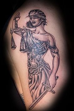 Lady Justice Tattoo Design For All - Tattoo Ideas Justitia Tattoo, Large Tattoos, Cool Tattoos, Tattoo Sketches, Tattoo Drawings, Scales Of Justice Tattoo, Law Tattoo, Libra Sign Tattoos, Tattoos Geometric