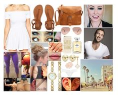 """""""Venice Beach Boardwalk with Jai"""" by queennikkiufc ❤ liked on Polyvore featuring ASOS, Aéropostale, Sonix, Lord & Taylor, Ray-Ban, Chanel, Hanky Panky and Gioelli"""