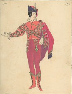 Mstislav Dobuzhinsky (Russian, 1875–1957). Costume Design for Male Dancer, late 19th–mid-20th century. The Metropolitan Museum of Art, New York. Gift of Nikita D. Lobanov, 1969 (69.538.4) #halloween #costume