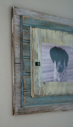 5 x 7 Distressed Handmade Picture Frame  White by shoponelove, $45.00