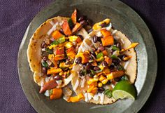 Roasted Sweet Potato and Black Bean Tacos Recipe - Oprah.com