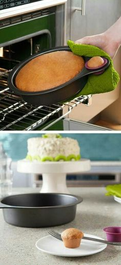 Cool pan.. such a great way to pre taste the cake!!