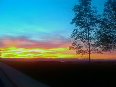 Sunset in Denver, CO :)  Nothing like Rocky Mountain sunrises and sunsets