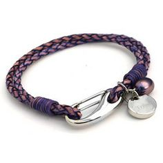 New Purple Tribal Steel Bracelet just £16, with rustic gift bag, perfect gift