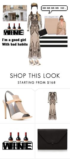 """""""blind date"""" by lianafourmouzi ❤ liked on Polyvore featuring Pollini, Temperley London, PTM Images and Valextra"""
