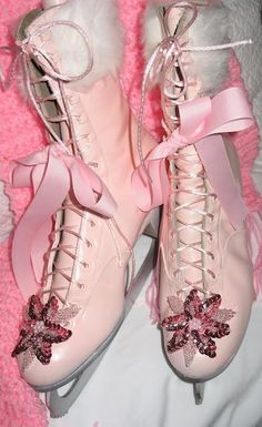 Pink ice skates