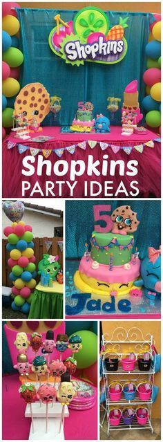 So much cuteness at this Shopkins birthday party! See more party ideas at CatchMyParty.com!