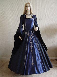 Renaissance Tudor Dress Gown Halloween by ChristineHallDesigns